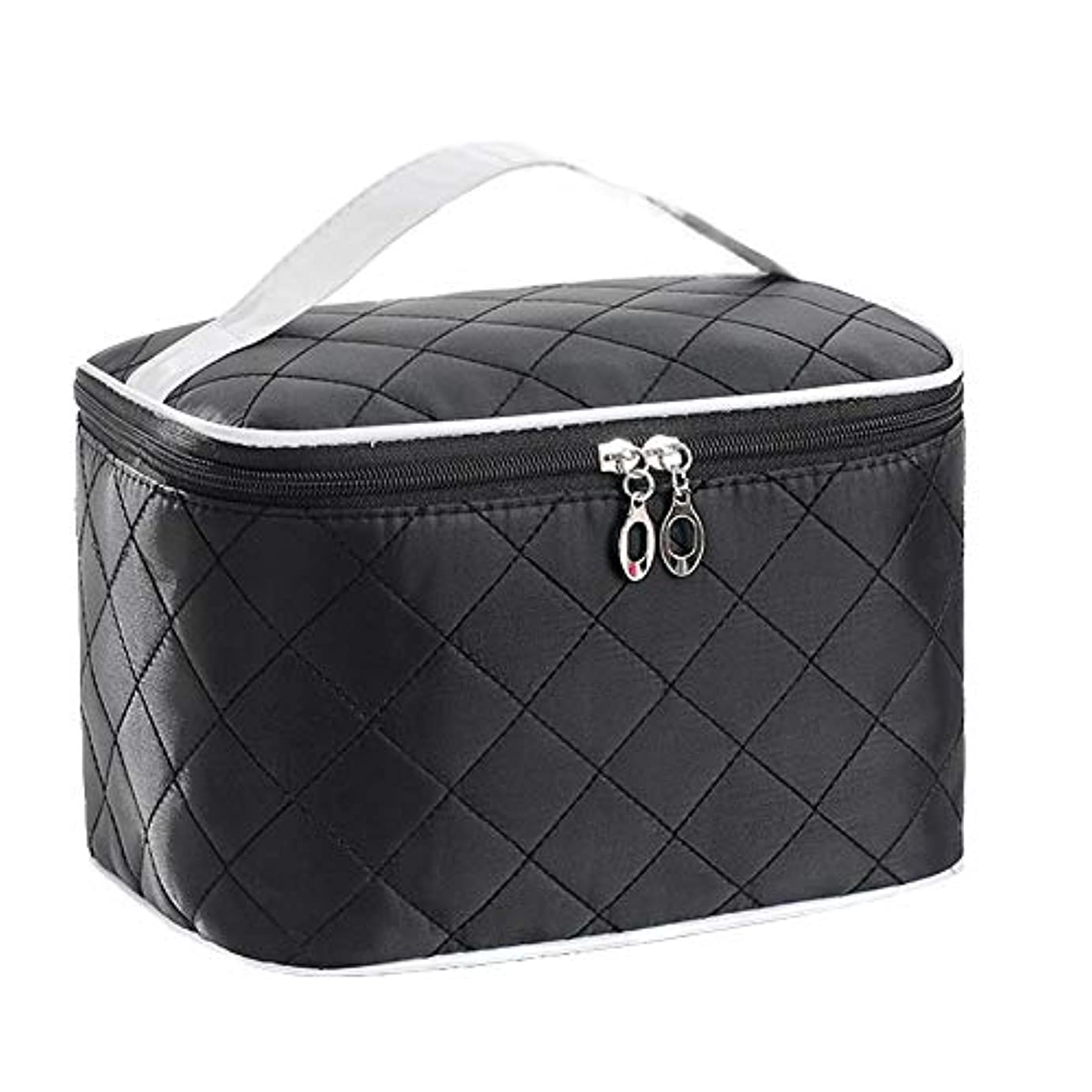 魅了する求めるブレーク特大スペース収納ビューティーボックス 女の子の女性旅行のための新しく、実用的な携帯用化粧箱およびロックおよび皿が付いている毎日の貯蔵 化粧品化粧台 (色 : ブラック)