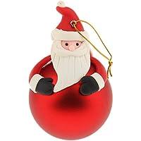 Lovoski クリスマス ツリー ボール 飾り クリスマス ハンギング オーナメント 全4デザイン - サンタクロース