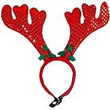 BESTOYARD クリスマスアントラーズヘッドバンドヘッドドレスクリスマスコスチュームアクセサリー犬の猫のペット