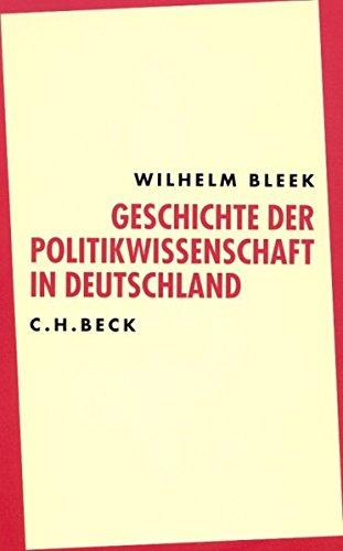 Geschichte der Politikwissenschaft in Deutschland. Sonderausgabe