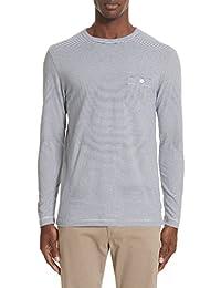 トッドスナイダー メンズ Tシャツ Todd Snyder Stripe Long Sleeve T-Shirt 9e [並行輸入品]