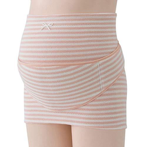 霞桜(kasumizakura)はじめてママの 妊婦帯セット 腹巻きセット 補助ベルト付き マタニティガードル 妊娠初期~後期ながく使える あったか素材 ふわふわパイル素材 やわらかい肌触り おなか冷え予防 お腹支える 腰痛緩和 M~L (ピンク, M)