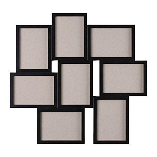IKEA/イケア VAXBO:コラージュフレーム 写真8枚用/55×58cm ブラック (203.529.11)