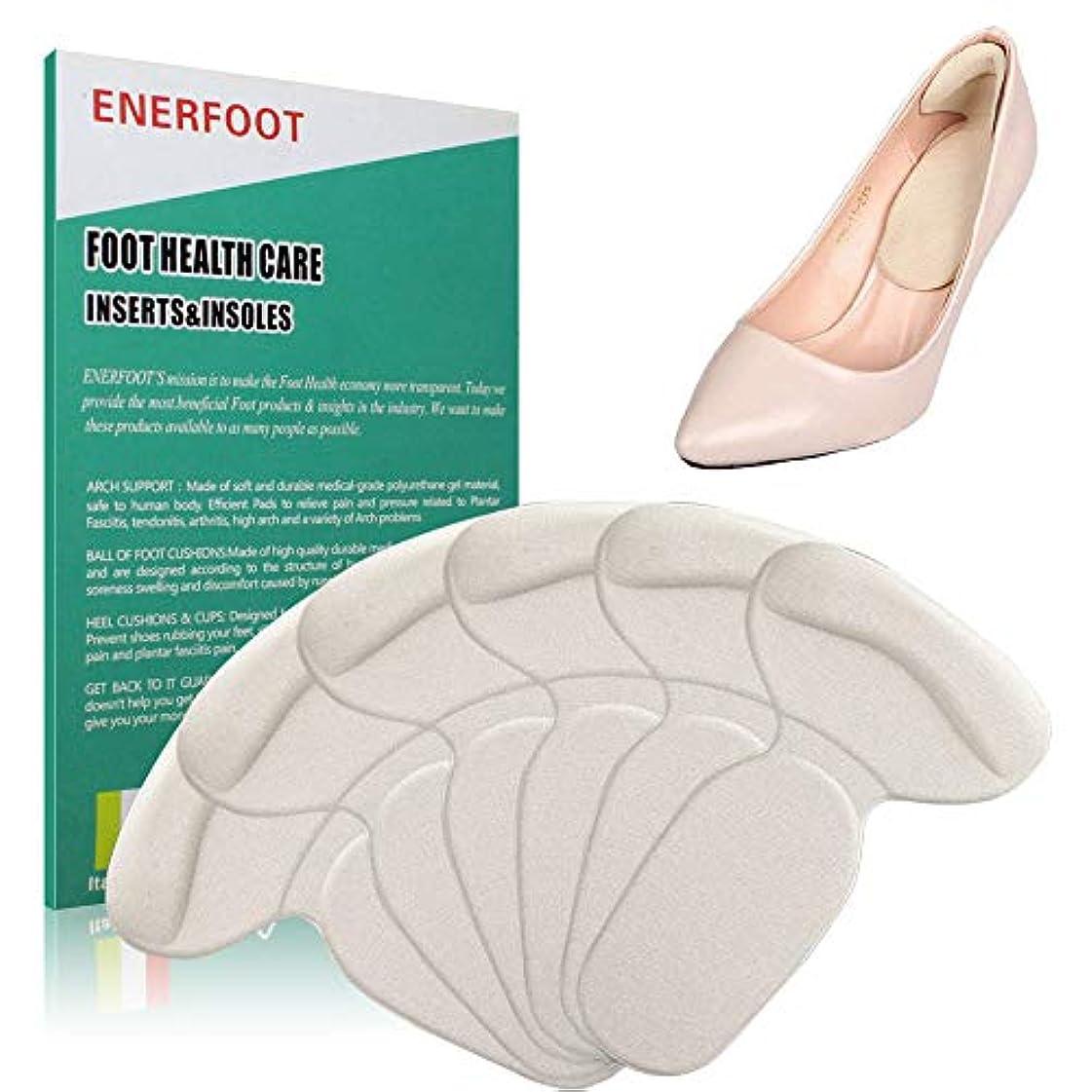 適合するスーダン擬人化ENERFOOTヒールクッションが大きすぎる靴用の靴パッドを挿入します、靴ヒールパッドヒールグリップライナーミックス快適な靴ヒール用プロテクター
