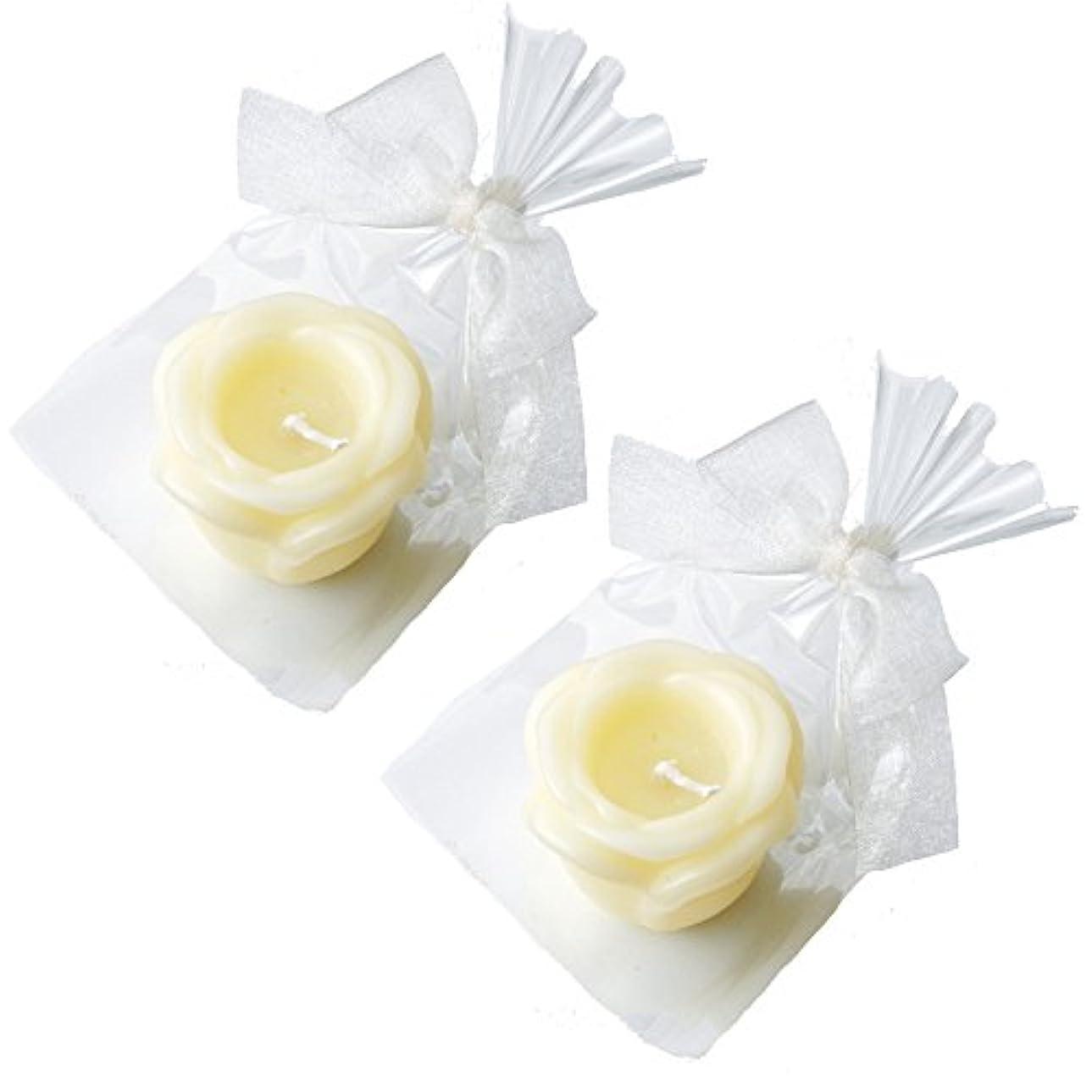 カメヤマキャンドルハウス プチラビアンローズキャンドル 1個入 ローズの香り アイボリー ×2個セット