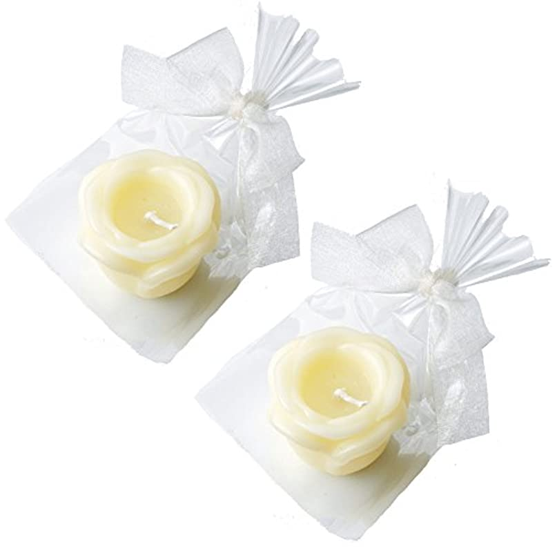 制限する初期のアイドルカメヤマキャンドルハウス プチラビアンローズキャンドル 1個入 ローズの香り アイボリー ×2個セット