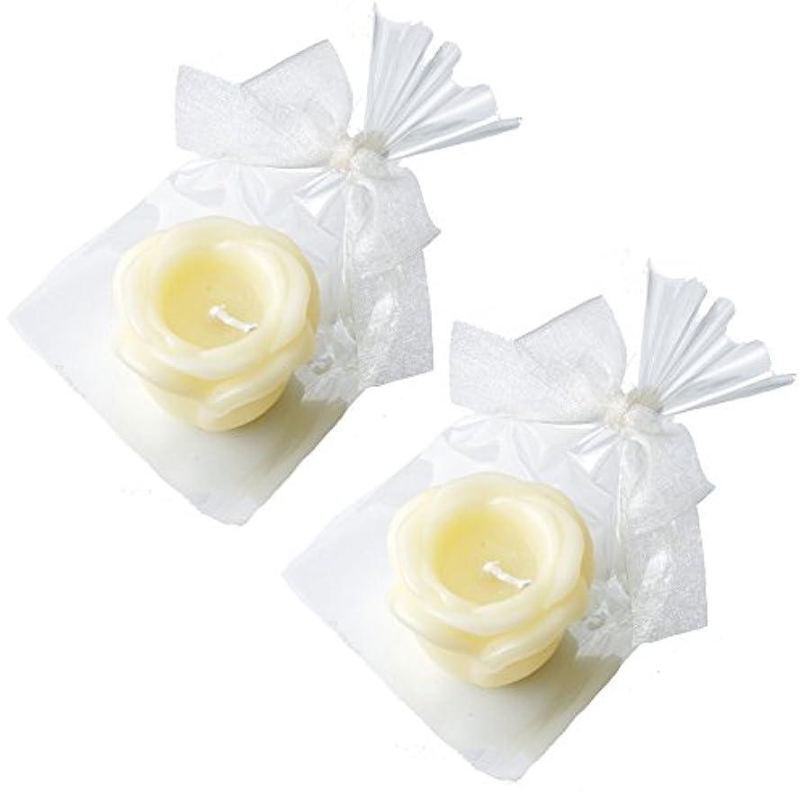 敏感な共役傾斜カメヤマキャンドルハウス プチラビアンローズキャンドル 1個入 ローズの香り アイボリー ×2個セット