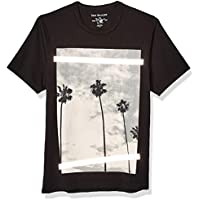 True Religion Mens 102445 Ss Palm Tree Photo Print Tee Short Sleeve T-Shirt