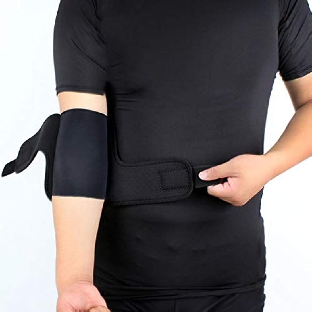 豊かな丁寧適合するスポーツ肘プロテクターバスケットボールアームガード通気性保護肘パッド-Rustle666