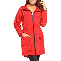 Zilee Women Raincoat Rainsuit Waterproof Rainwear - Girls Rain Jackets Reusable Rain Coat Slicker Windproof Jumpsuit Hooded for Sports Trave Outdoors Adult