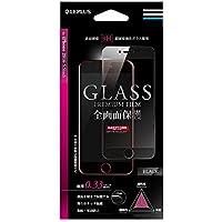 iPhone7 Plus ガラスフィルム 「GLASS PREMIUM FILM」 全画面保護(ブラック)0.33mm LP-I7PFGFBK