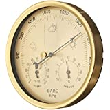 Apostasi 3-in-1 Multi-Function Hangable Barometer Hygrometer Indoor Outdoor Thermometer Humidity Gauge for Home Office