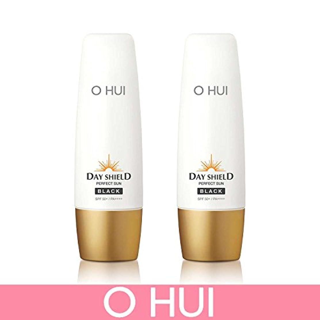 マラウイ不利益申請中[オフィ/ O HUI]韓国化粧品 LG生活健康/ ERFECT SUN BLACK DUO /日焼け止め (SPF50+/PA+++) 50ml +50ml +[Sample Gift](海外直送品)