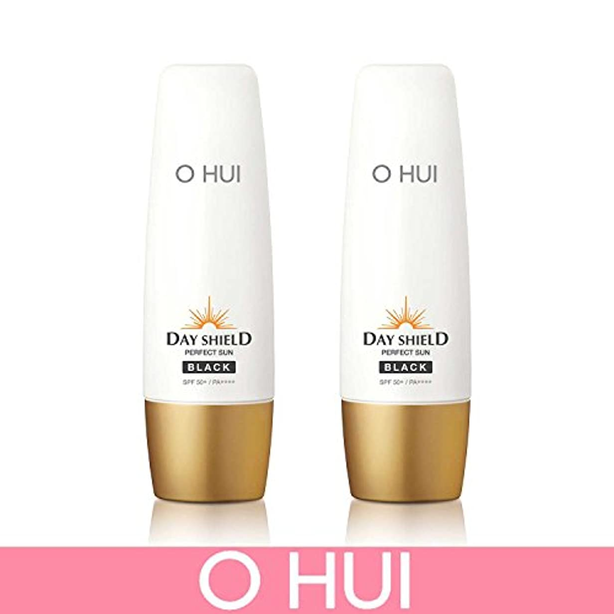 聡明胴体合体[オフィ/ O HUI]韓国化粧品 LG生活健康/ ERFECT SUN BLACK DUO /日焼け止め (SPF50+/PA+++) 50ml +50ml +[Sample Gift](海外直送品)