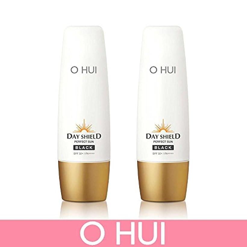 老人の中で小さい[オフィ/ O HUI]韓国化粧品 LG生活健康/ ERFECT SUN BLACK DUO /日焼け止め (SPF50+/PA+++) 50ml +50ml +[Sample Gift](海外直送品)