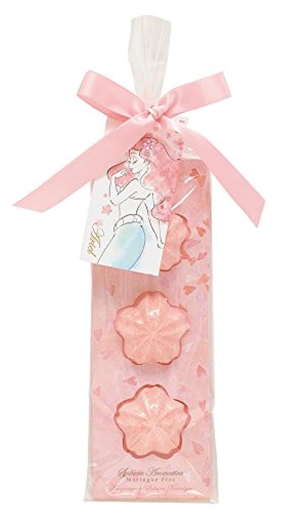 フラフープ磁気ディズニー 入浴剤 バスフィズ アリエル サクラアロマティカ 桜の香り 30g DIT-6-01