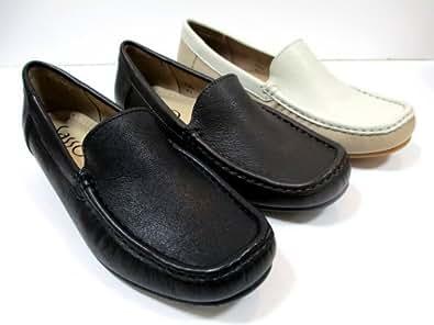 【履くほどに愛着が湧く、手放せない1足になりそう。】[サッソー]  sasso 855 レディース モカシン フラット 牛革 スクエアトゥ ドライビングシューズ 仕事靴 ブラック・ダークブラウン・アイボリー (22.0, ダークブラウン)