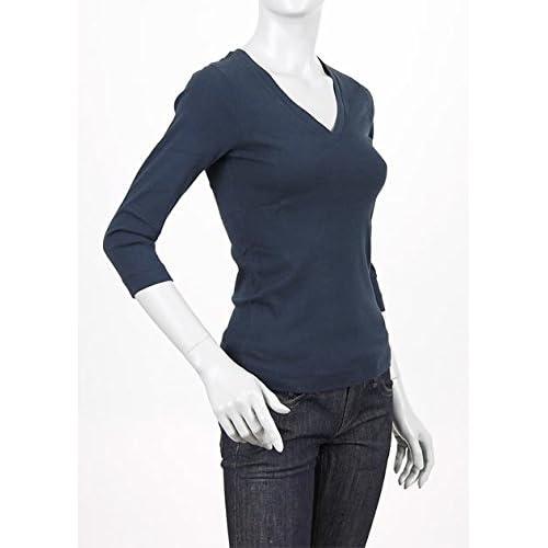 (スリードッツ) three dots Vネック七分袖Tシャツ Sサイズ NAVY [並行輸入品]