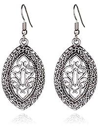 VWH Flower Drop Dangle Earring for Women Girl Hollow Floral Pendant Earrings