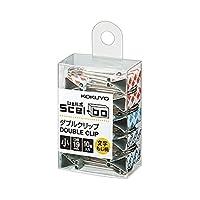 コクヨ ダブルクリップ Scel-bo 個箱タイプ 小サイズ 口幅19mm 10個 文字もじ柄 クリ-J35-1 Japan