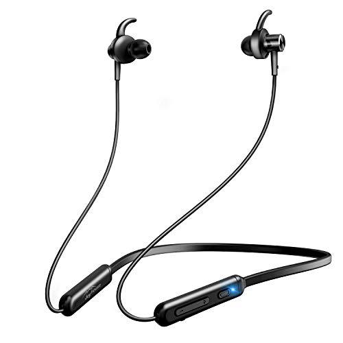 【2019進化版 Bluetooth5.0 & APT-Xコーデック】Bluetooth イヤホン スポーツ Hi-Fi 高音質 ワイヤレスイヤホン 12時間連続再生 AAC8.0/CVC8.0ノイズキャンセリング対応 ブルートゥース イヤホン IPX6防水 Siri対応 Bluetooth ヘッドホン iPhone/iPad/Android対応 (ブラック)
