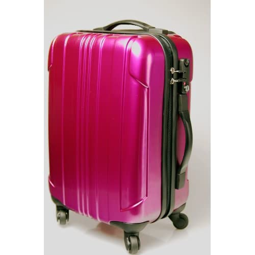スーツケース キャリーバッグ ポリカーボネイト樹脂製 45cmタイプ パープル
