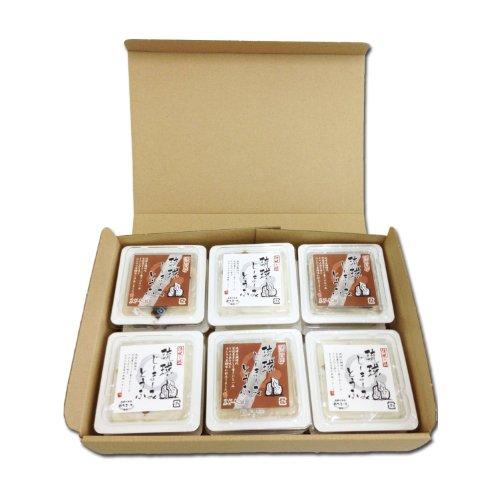 琉球じーまーみとうふ プレーン & 黒糖 各80g×各3P ギフトボックス入り ハドムフードサービス プリンのような食感のもちもちピーナッツ豆腐 沖縄土産に