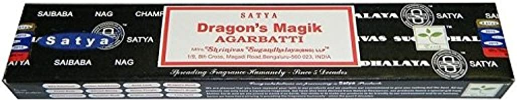 句読点怒ってマウントSatya Sai Baba Dragon 's Magik Boxed Incense STI。。。