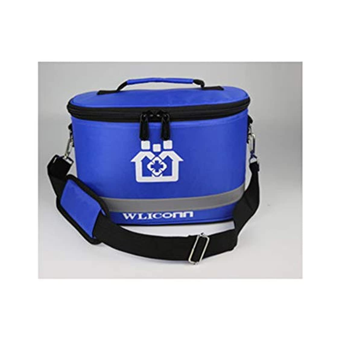 驚かすロッジ抹消緊急用バッグ 医師の訪問パッケージポータブル母子パッケージ応急処置キット3層デザインナイロン生地/ 3色オプション HMMSP (Color : Royal blue)