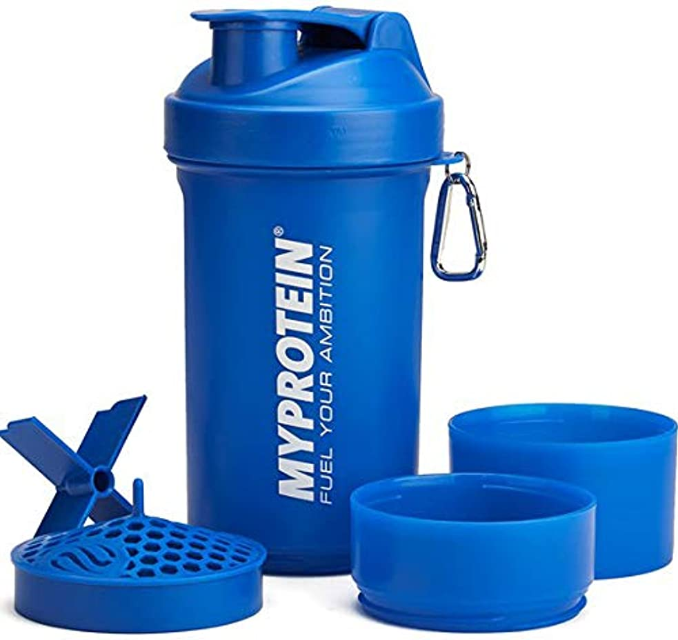 巻き戻すタック肥料マイプロテイン スマートシェイク シェイカー ラージ 800ml(ブルー)