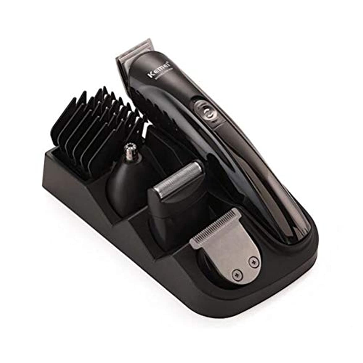 接続詞保護する不潔ポータブル バリカンひげトリマー鼻毛シェービングカッターヘッド多機能電動バリカンセット家庭用電動バリカン 快適な, Black