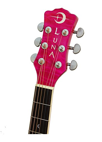 Fauna Series Eclipse Acoustic-Electric Guitar エレクトリック アコースティックギター Luna社 Trans Pink【並行輸入】