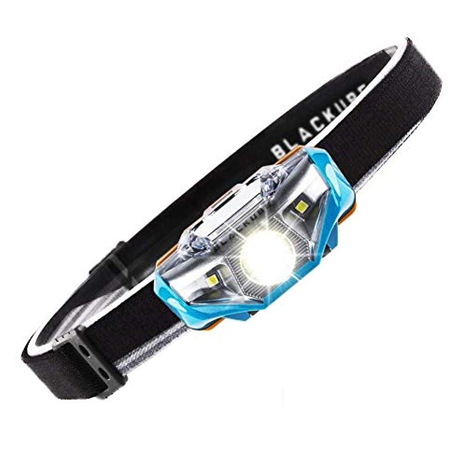 ソケット科学者不愉快にLightweight Headlamp Ultra Bright Portable LED Headlamp (Only 1.69Oz),7 Lighting Modes,IPX6 Waterproof,Best Headlight for Camping,Running,Hiking and Kids,1AA Battery included (Blue) [並行輸入品]