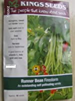 種子パッケージ:5パケット:嵐、月光、自己受粉、ランナー豆の種子、キングス、パケット、種子、トール