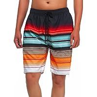 MILANKERR Men's Stripe Swim Trunk Beach Surf Shorts