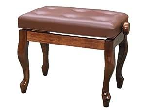 ピアノ椅子 / イス 高低自在 FS-201 QW-WNP ( 猫足 / チッペン, 茶 / ウォルナット艶出し )