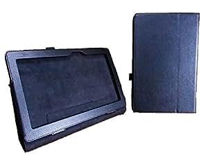 ASUS TransBook T100TAM / T100TAL / T100TA ケース [ エイスース 10.1inch タブレット 対応 ] フラップマグネット開閉式 / 薄型軽量 / スタンド機能  / タッチペン収納 / PUレザー Simple Cover Case【High quality Black (黒)】