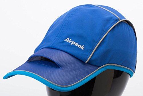 Airpeak Speed(エアピーク スピード)/フリーサイズ(54-60cm)/横ロゴ/ランニング・テニス向け (ブルー)