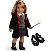 Sweet Dolly Magic Outfits Witchcraft School Uniform Doll Clothes For 18 inch American Girl Doll