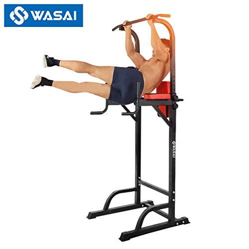 WASAI(ワサイ) ぶら下がり健康器 懸垂マシーン MK580 耐荷重150kg 筋肉トレーニング 器具 (黒)