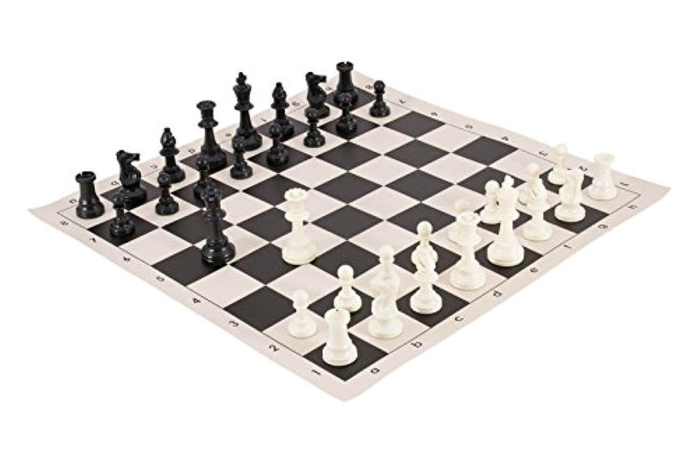The House of StauntonチェスボードWeightedトーナメントチェスピースと組み合わせ