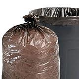 スタウトT4048B15合計リサイクルのコンテンツゴミ箱バッグ - 45 gal- 1.5mil- 40×48- Brown- 100 /カートン