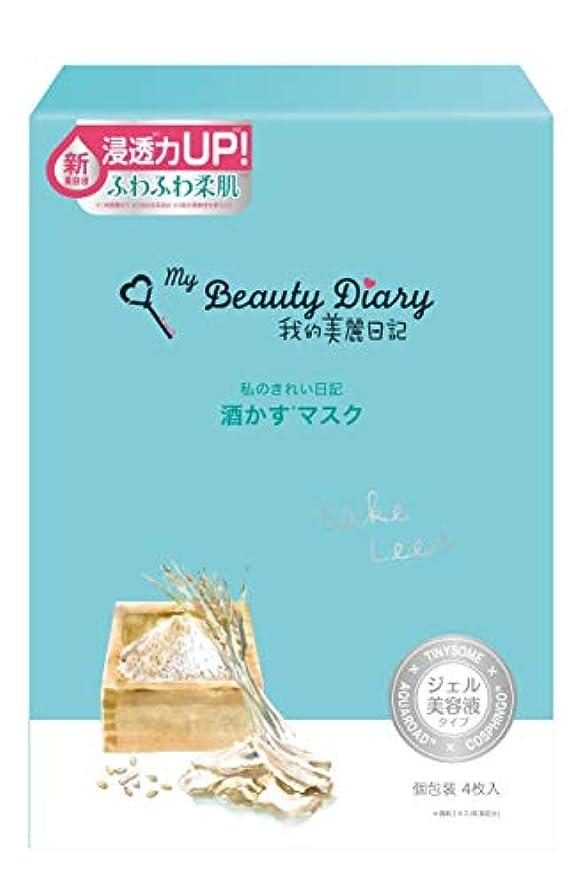 地図変形する印象的我的美麗日記 酒かすマスク(4枚)