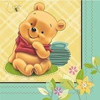 Winnie the Pooh 'Baby Pooh' Small Napkins (16ct) 【Creative Arts】 [並行輸入品]