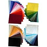 45 Fiber Paper Tissue Sheets Size A4 Paper Craft Art Blue red Geen Yellow red Craft Paper Multi Colour Papers for Craft Texture Paper Decorative Craft Papers Handmade Rice Paper Wrapper