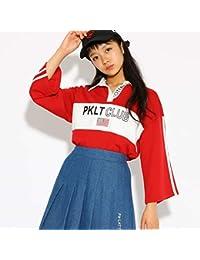 (ピンク ラテ) PINK-latte 7分袖 ラガーシャツ 31915008