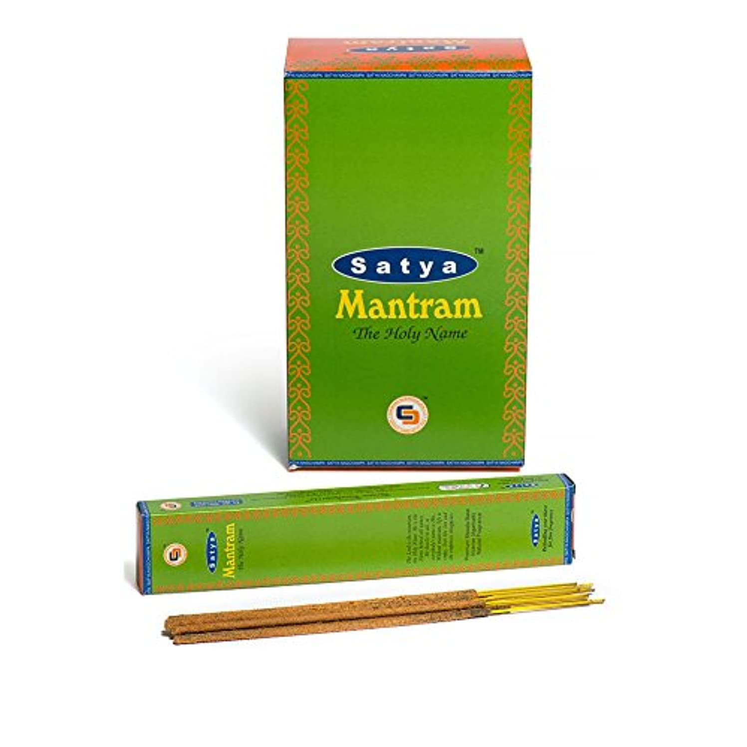 Satya Nag Champa Mantram Incense Sticks |署名Fragrance | Net Wt : 15 g x 12ボックス= 180 g | Exclusivelyインド製|エクスポート品質...
