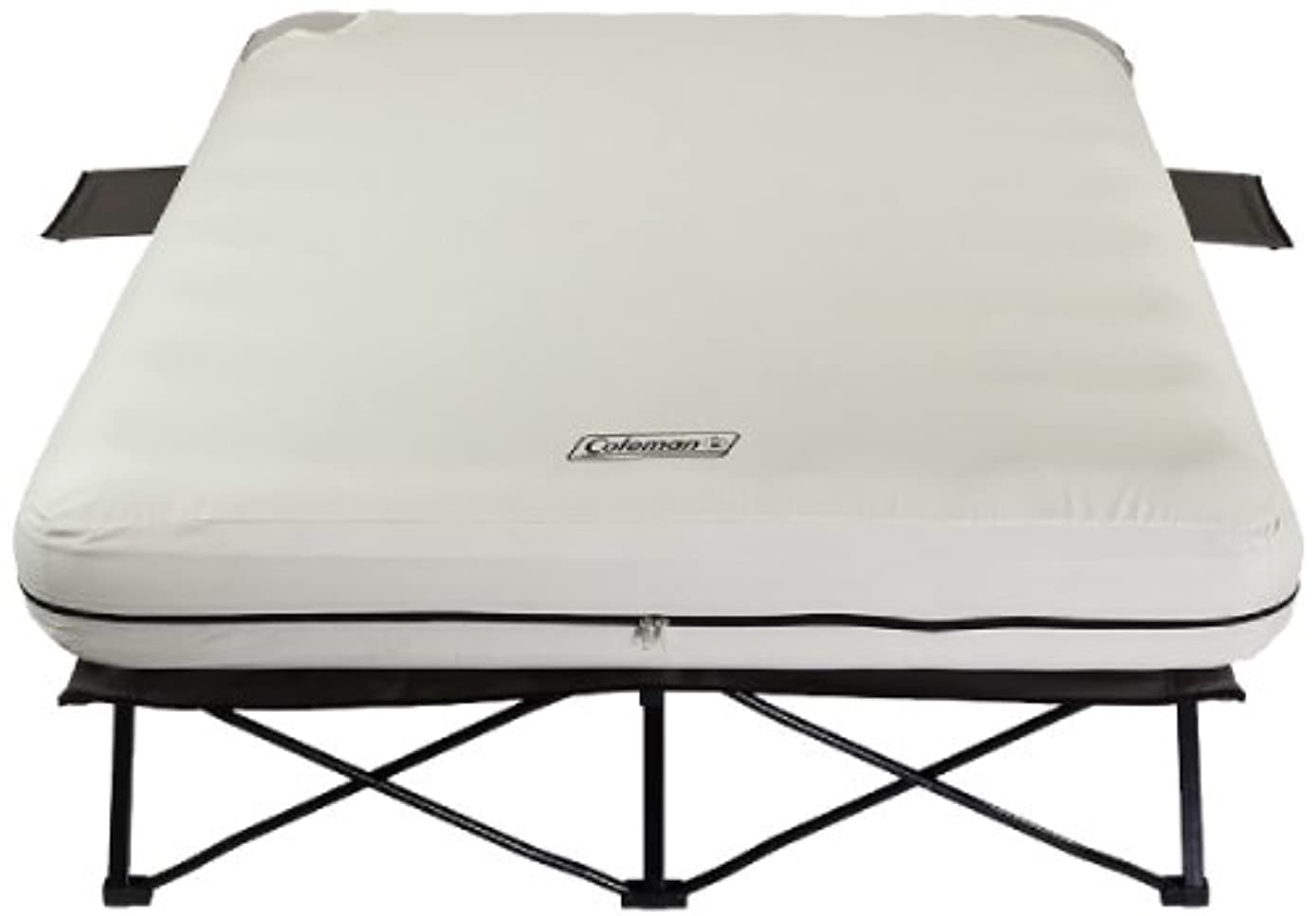 定規エステート名詞Coleman Queen Airbed Folding Cot with Side Tables and 4D Battery Pump