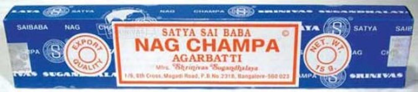 効果振る舞う松明Nag Champa sticks 15グラム( isnags ) -