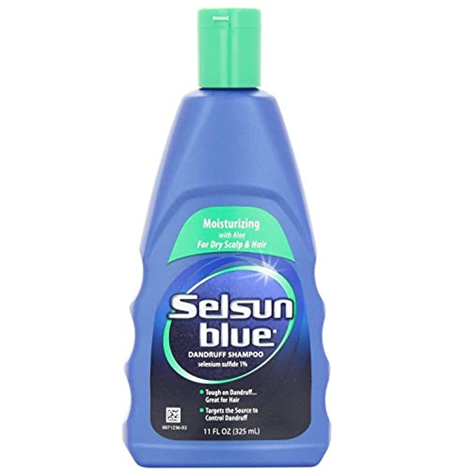 数値メーカーピットSelsun Blue Dandruff Shampoo, Moisturizing with Aloe for Dry Scalp and Hair, 11 Ounce by Selsun Blue [並行輸入品]